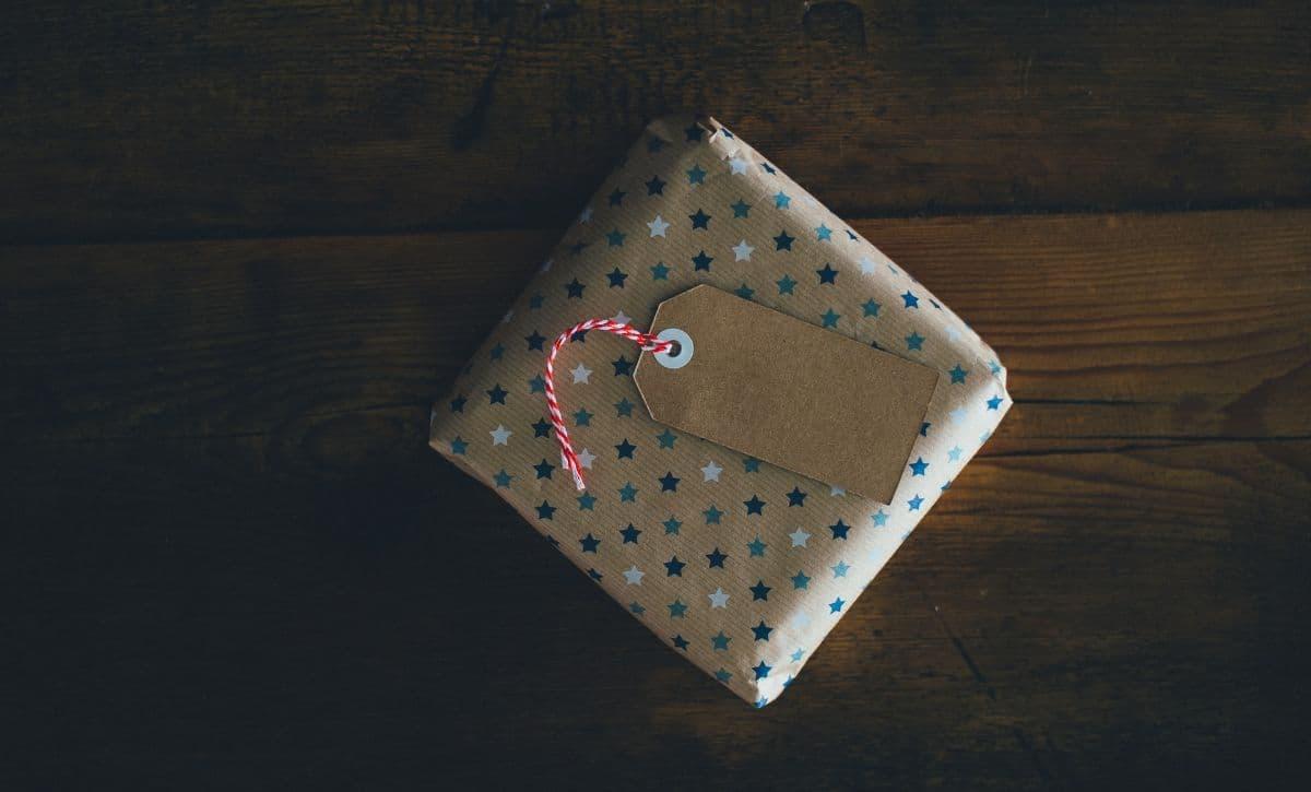 christmas present on table - men's perfume christmas gifts