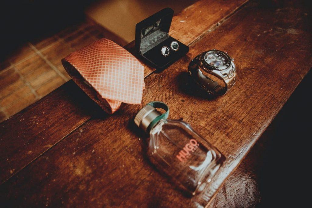 hugo boss scent necktie and watch min