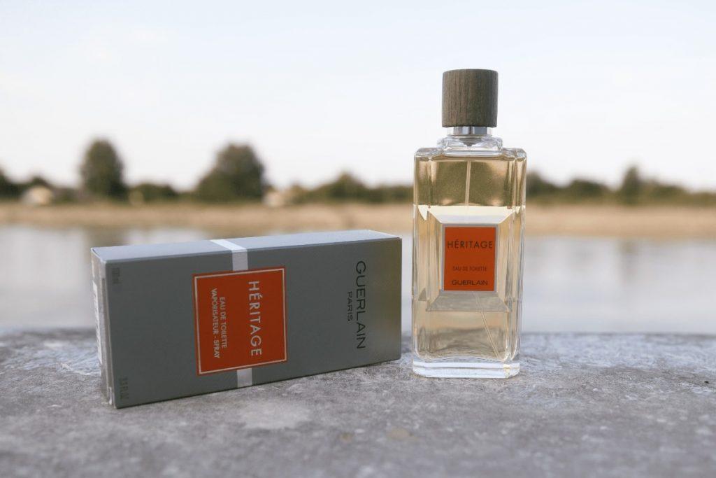 Guerlain Heritage Eau de Toilette bottle and box