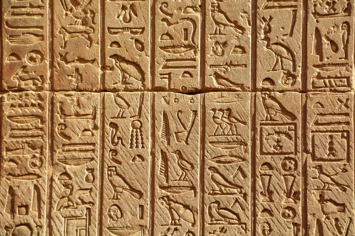 hieroglyphs - history of perfume