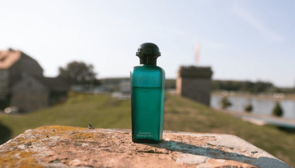 Concentre D'Orange Verte bottle far
