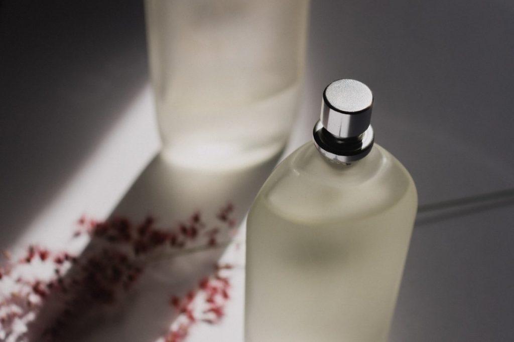 white perfume bottle - holy grail perfumes