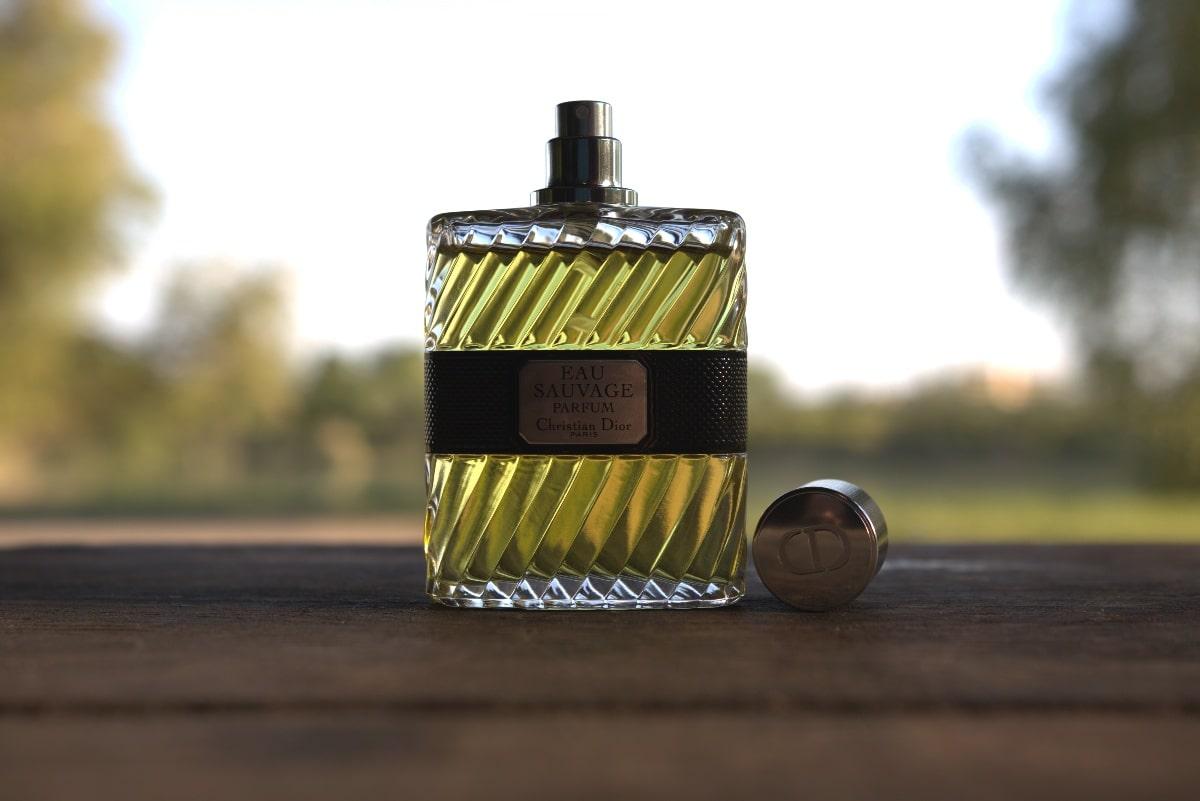Dior Eau Sauvage Parfum 2017 bottle on desk