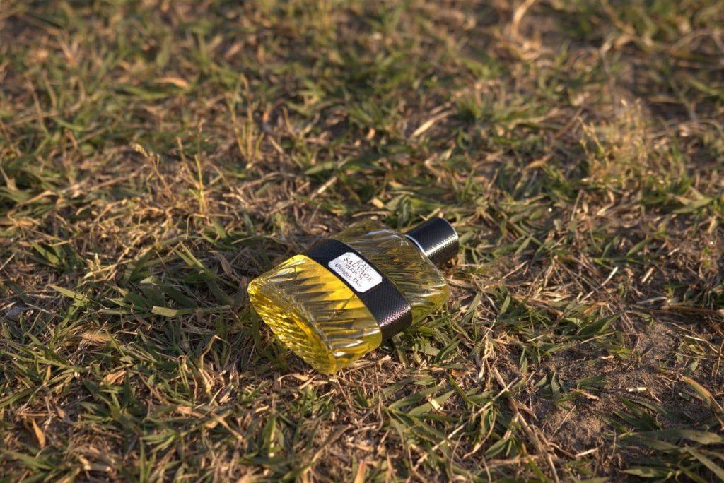 Dior Eau Sauvage Parfum 2017 bottle on grass