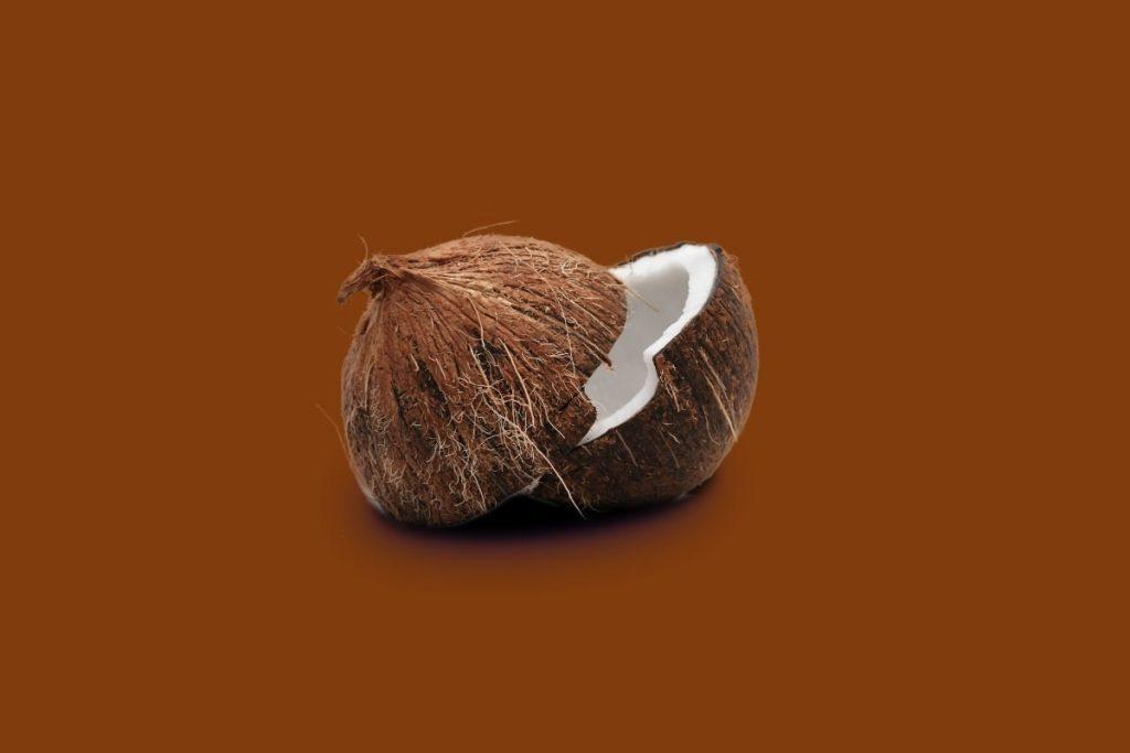 Sliced coconut