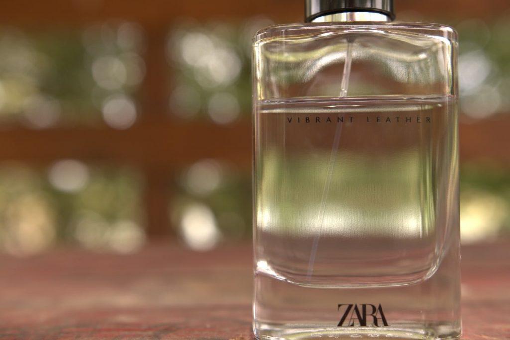 Zara Vibrant Leather bottle closeup